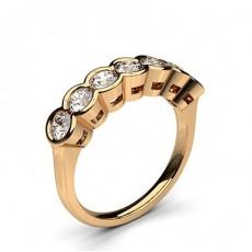 Seven Stone Diamond Rings Rose Gold