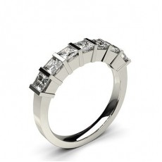 Princess White Gold Anniversary Diamond Rings