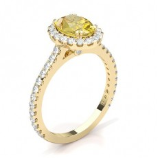Oval Yellow Gold Yellow Diamond Engagement Rings