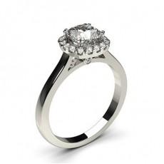 Cushion White Gold Diamond Engagement Rings