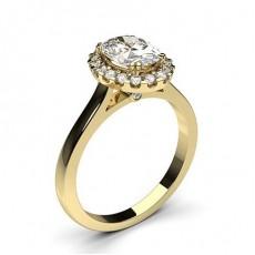 Oval Gelbgold Verlobungsringe