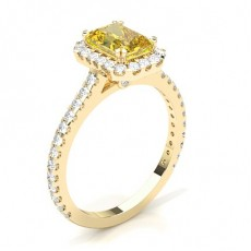 Radiant Yellow Gold Yellow Diamond Rings