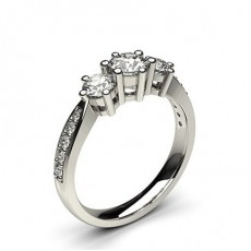 Platinum 3 Stone Diamond Rings