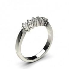 Round White Gold 5 Stone Diamond Rings