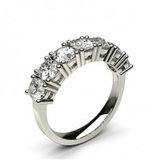 Oval Platinum 7 Stone Diamond Rings
