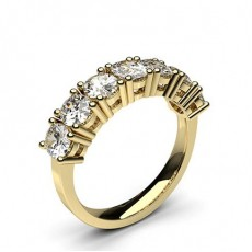Gelbgold 7 Diamanten Diamantringe