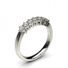 6 Prong Setting Plain Seven Stone Ring