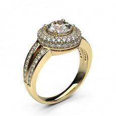 Yellow Gold  Halo Diamond Engagement Rings