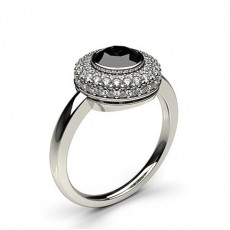 Semi Bezel Setting Round Diamond Fashion Ring
