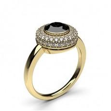 Yellow Gold  Black Diamond Diamond Engagement Rings
