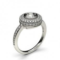 White Gold  Halo Diamond Engagement Rings