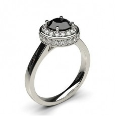Round Platinum  Ready to Deliver Engagement Rings