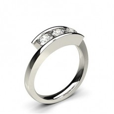 White Gold Trilogy Diamond Ring