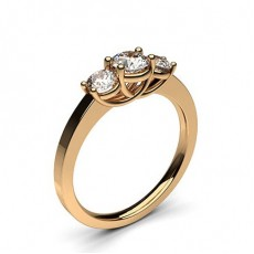 Yellow Gold Trilogy Diamond Engagement Ring