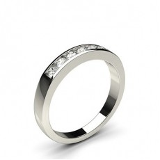 Channel Setting Plain Seven Stone Ring