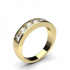 Yellow Gold 7 Stone Diamond Rings