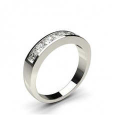 White Gold 7 Stone Diamond Rings