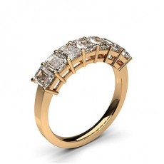 Rose Gold 7 Stone Diamond Rings