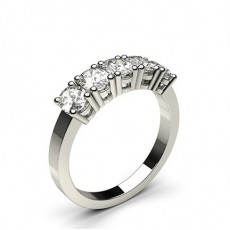 Platinum  5 Stone Diamond Rings