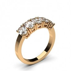 Oval Rose Gold Anniversary Diamond Rings