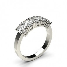 Oval Platinum Anniversary Diamond Rings