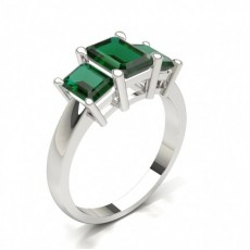 Emerald Trilogy Diamond Rings