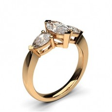 Mixed Shapes Rose Gold Diamond Engagement Rings