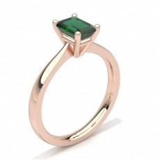 Emerald Rose Gold Gemstone Diamond Rings