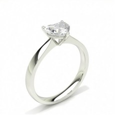Heart Solitaire Diamond Rings