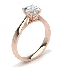 Rose Gold Solitaire Engagement Rings