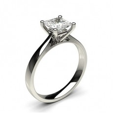 Princess Classic Solitaire Diamond Engagement Rings