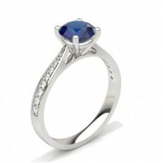 Gemstone Diamond Rings