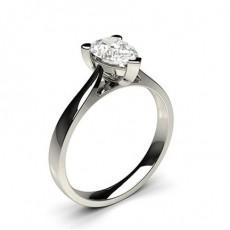 Pear White Gold Diamond Engagement Rings