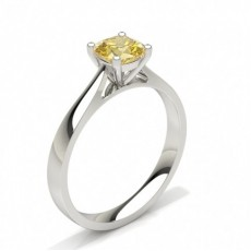 Cushion  Solitaire Engagement Rings