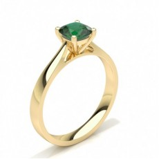 Cushion Yellow Gold Gemstone Diamond Rings