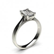Emerald White Gold Diamond Engagement Rings