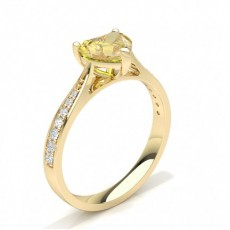 Heart Yellow Gold Yellow Diamond Engagement Engagement Rings
