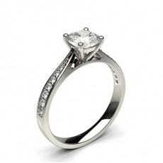 Cushion  Side Stone Engagement Rings