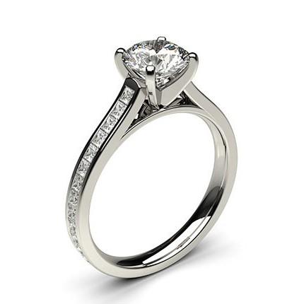 Side Stone Diamond Engagement Ring