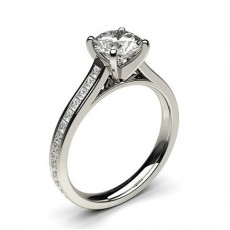 Side Stone Diamond Engagement Ring