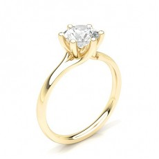 Yellow Gold Classic Solitaire Engagement Rings