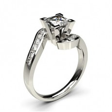 Princess Platinum Engagement Rings