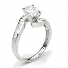 Pear Platinum Diamond Rings