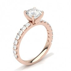 Round Rose Gold Engagement Rings