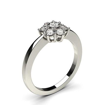 6 Prong Setting Plain Seven Stone Ring