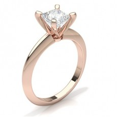 Princesse Or Rose Bague solitaire diamant