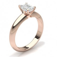 6 Prong Setting Plain Engagement Ring