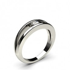 Channel Setting Plain Engagement Ring