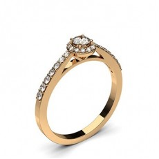 Round Rose Gold Promise Diamond Rings