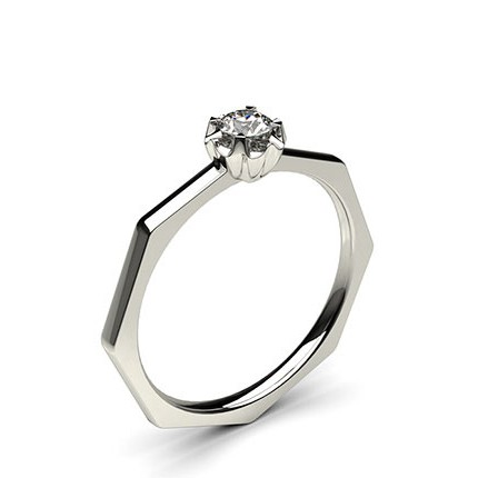 Illusion Setting Plain Engagement Ring